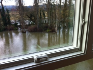 View  of floods from window 2