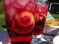Glamping_blackberry and elderflower pimms